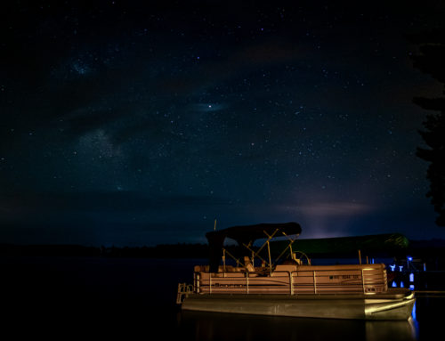 Lake Tomahawk Wisconsin Night Sky